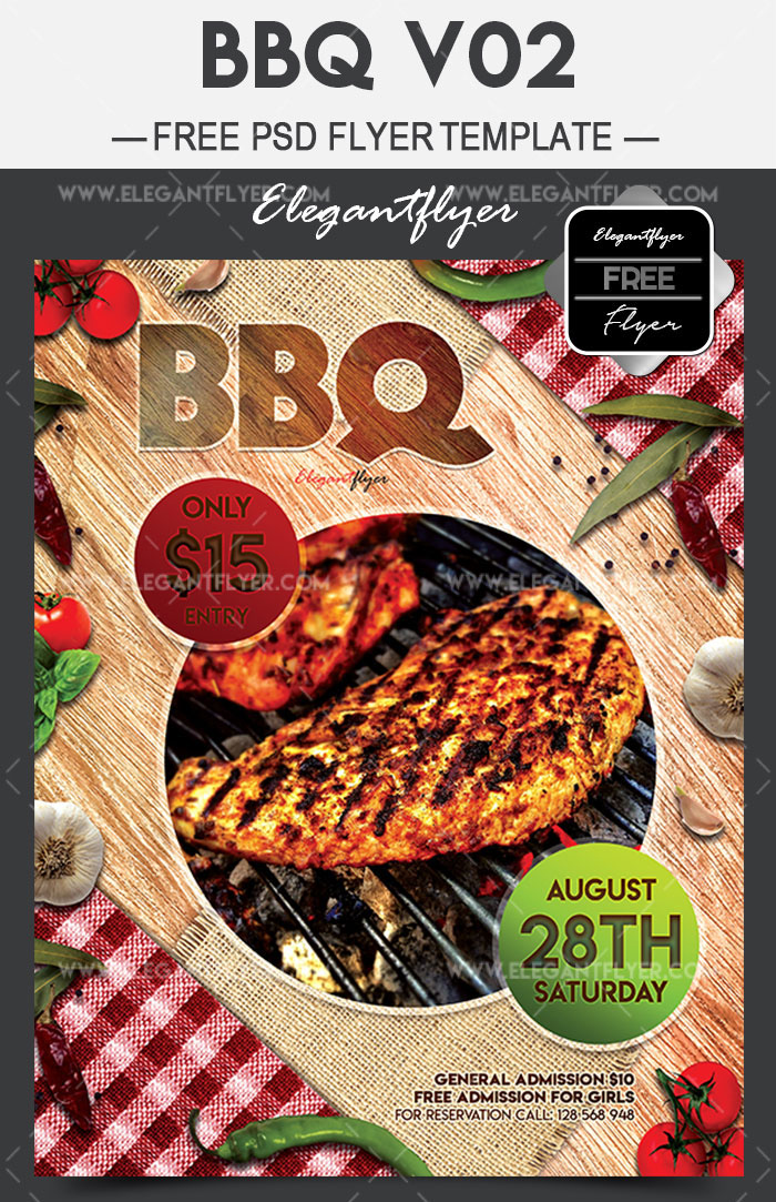 20 free psd barbeque flyer templates for the best events