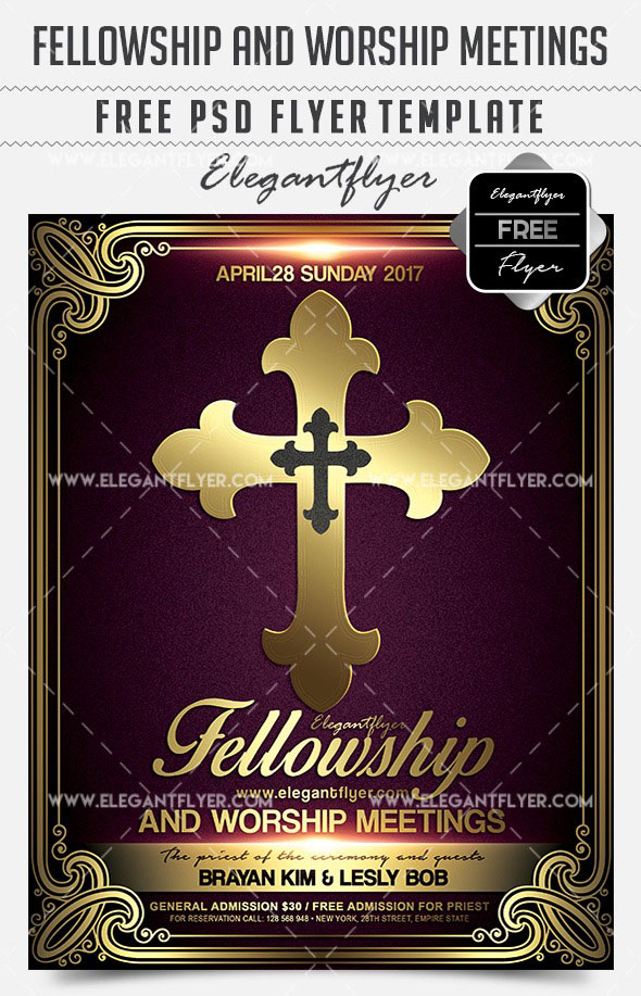 20 Free Psd Church Flyer Templates In Psd For Special Events Free