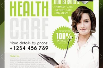 20 Free PSD Beauty & Health Care PSD Business Flyer Templates!