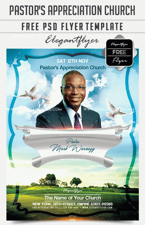 pastors appreciation church free flyer psd template facebook cover