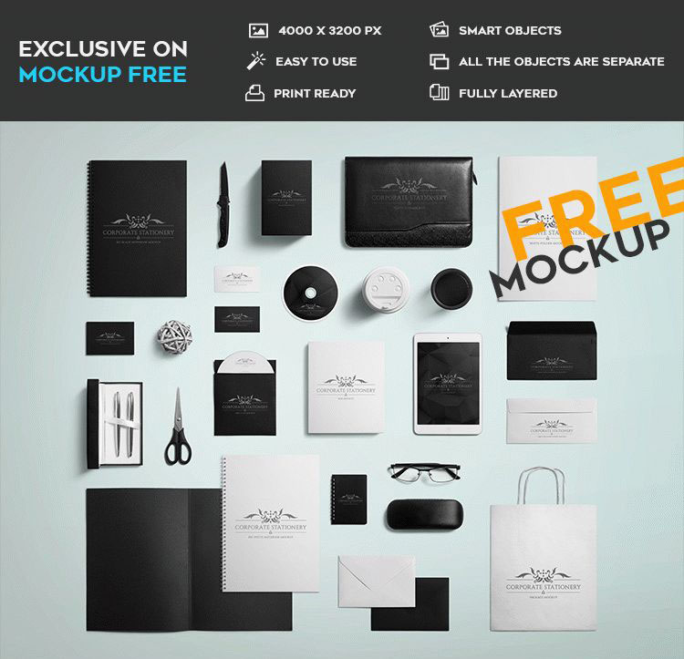 20 free psd stationary mockups for professional use and creative