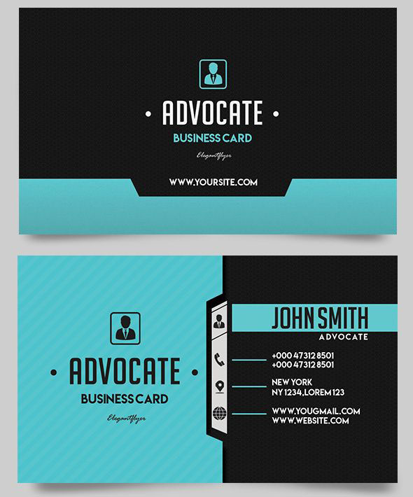 The best modern business cards templates in psd 2018 free psd advocate free business card templates psd wajeb Images