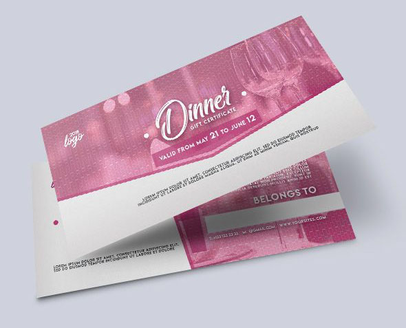 Gift certificate as a mandatory business attribute 20 the best psd dinner free gift certificate psd template download yadclub Image collections