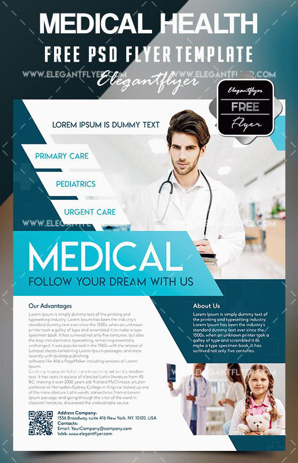 20 Free Psd Beauty Health Care Psd Business Flyer Templates