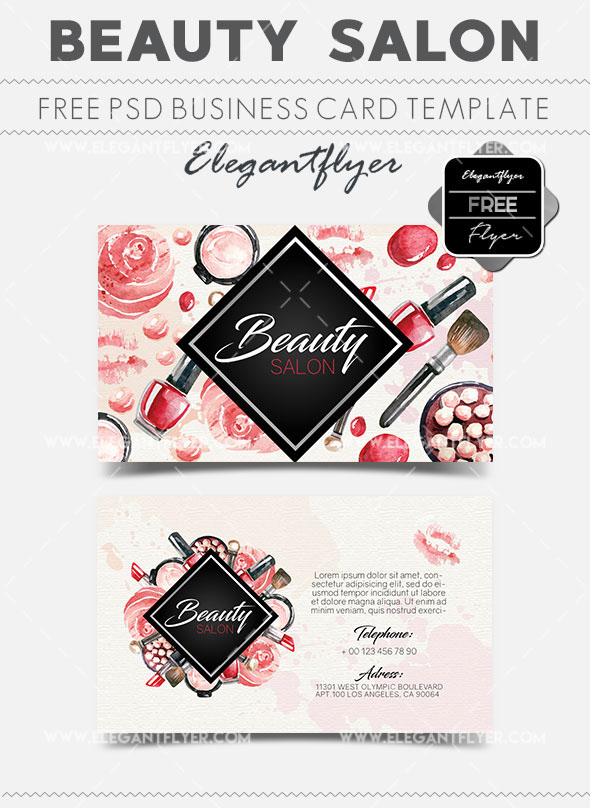 The best modern business cards templates in psd 2018 free psd beauty salon free business card templates psd friedricerecipe Image collections