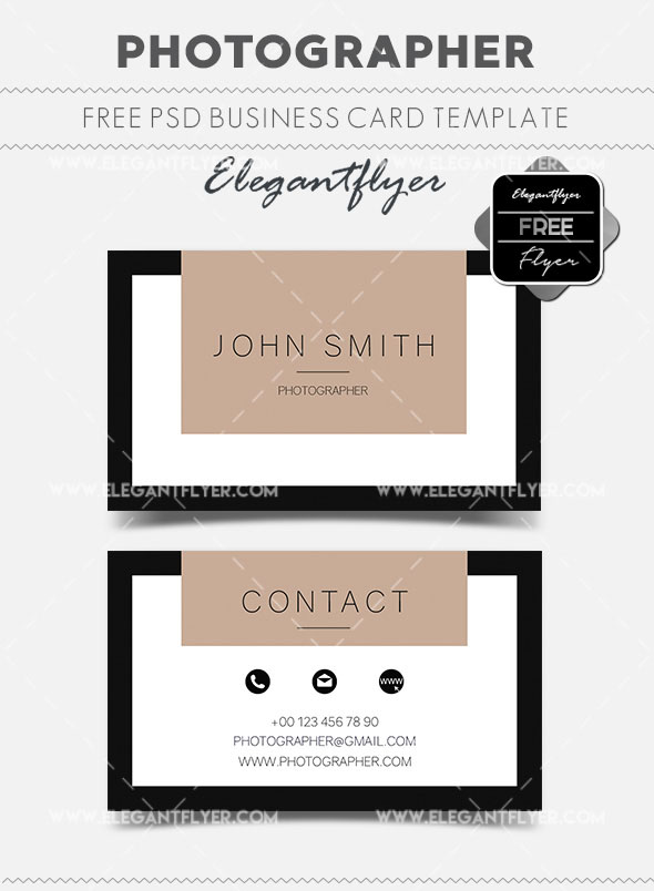 The best modern business cards templates in psd 2018 free psd photographer free business card templates psd accmission Choice Image
