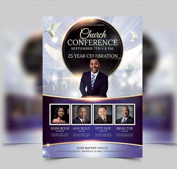 20 free psd church flyer templates in psd for special for Church brochure templates free