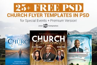30+ Free PSD Church Flyer Templates in PSD for Special Events & Premium Version!