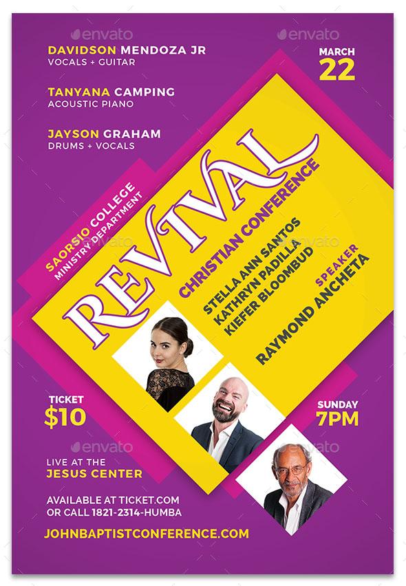 church revival flyers