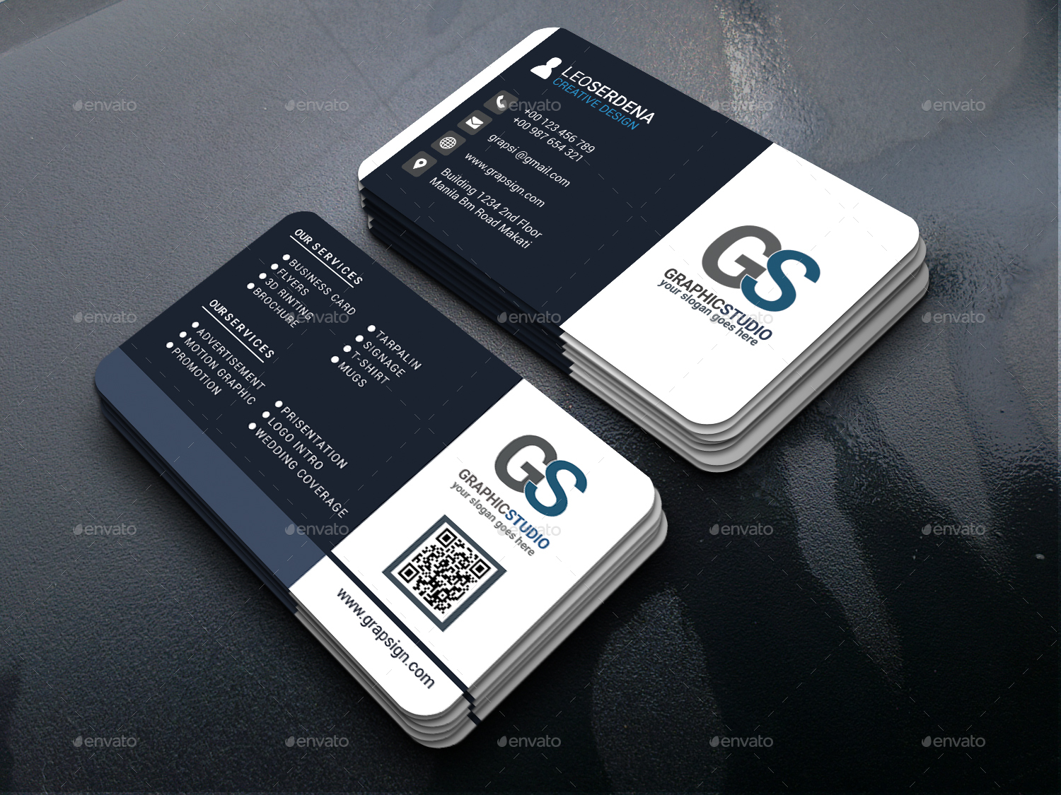The best modern business cards templates in psd 2018 free psd download reheart Images