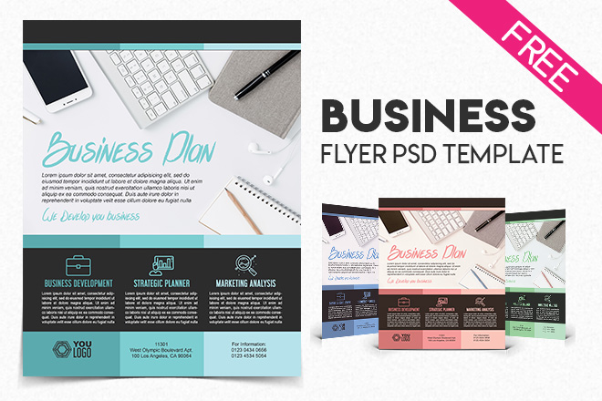 Free business flyer psd template free psd templates wajeb Images