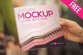 2 Free Square Brochure Mock-ups in PSD