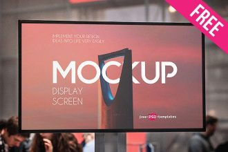 Free Display Screen Mock-up in PSD