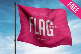 Free Flag Mock-up in PSD