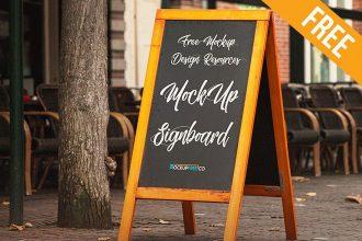 Signboard – Free PSD Mockup