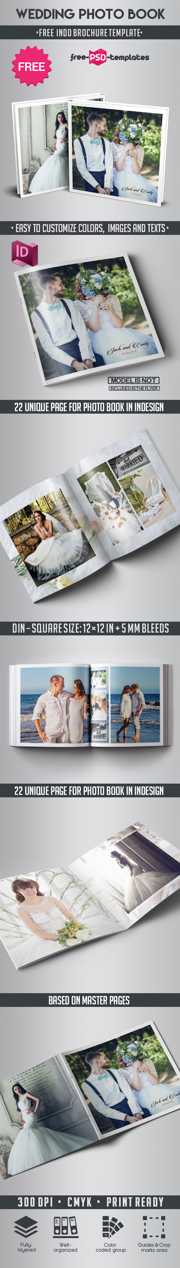 Free Wedding Photo Book Indd Template | Free PSD Templates