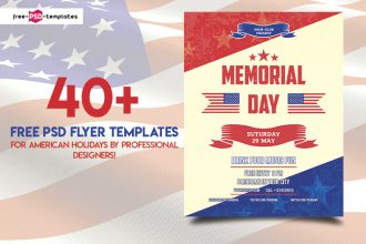 40+PREMIUM & FREE PSD FLYER TEMPLATES FOR AMERICAN HOLIDAYS BY PROFESSIONAL DESIGNERS!