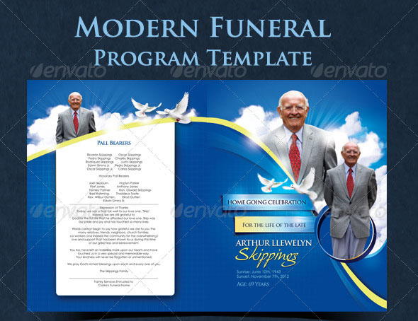 free funeral program template microsoft publisher - 20 modern and professional free psd funeral program