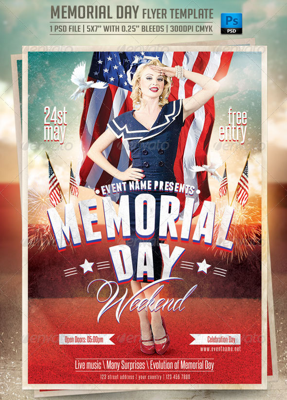 Free Psd Flyer Templates For American Holidays By Professional
