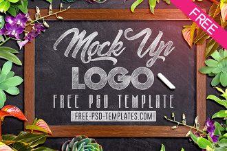 Free Logo Mockup V02 in PSD