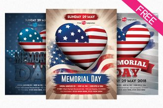 Free Memorial Day Flyer in PSD