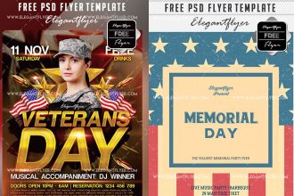 20 Free PSD Flyer Templates for American Holidays by Professional Designers!