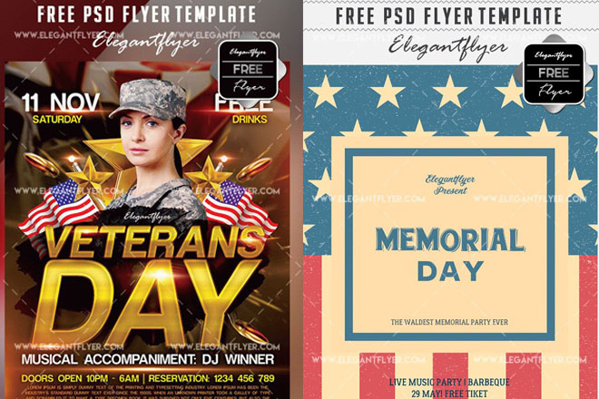 20 Free Psd Flyer Templates For American Holidays By Professional
