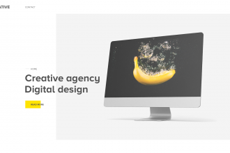 FREE PSD TEMPLATE Agance Landing Page