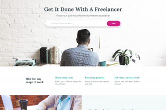 FREE PSD TEMPLATE Freelancer website