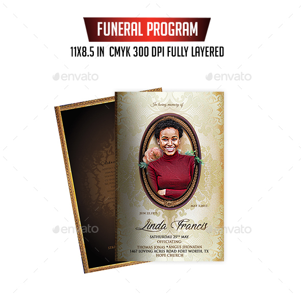 20 modern and professional free psd funeral program templates download solutioingenieria Image collections