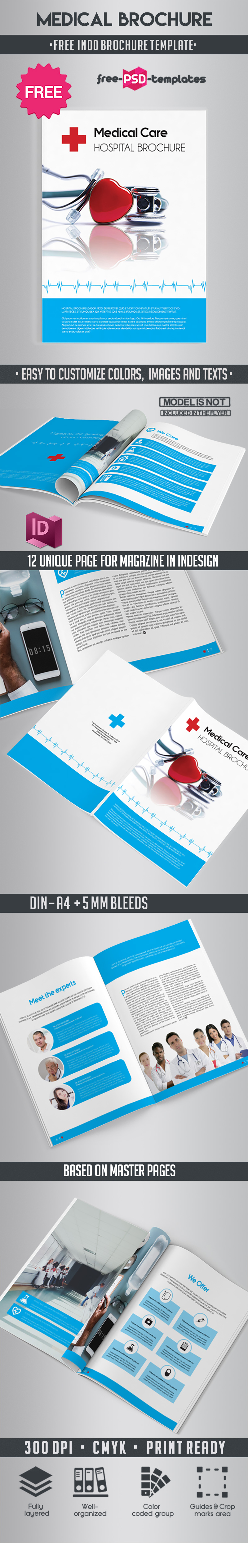 Free Medical Brochure Indd Template Free Psd Templates
