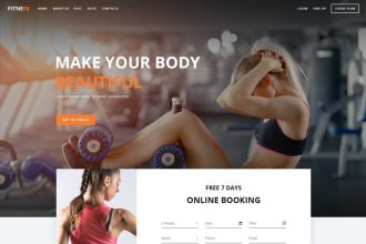 Free Psd Template Landing Page Fitness 2018