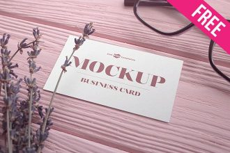 2 Free Business Card V02 Mock-ups in PSD