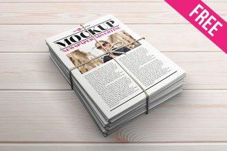 3 Free Newspaper Advertise Mock-ups in PSD
