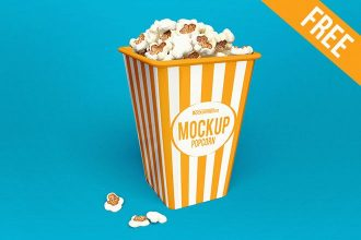 3 Free Popcorn Mockups (PSD)