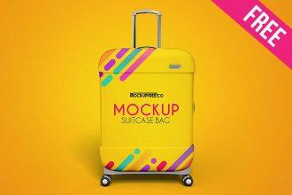 Suitcase Bag – 3 Free PSD Mockups