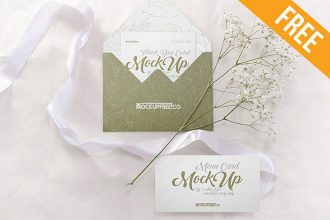 Wedding Invitation – 3 Free PSD Mockups