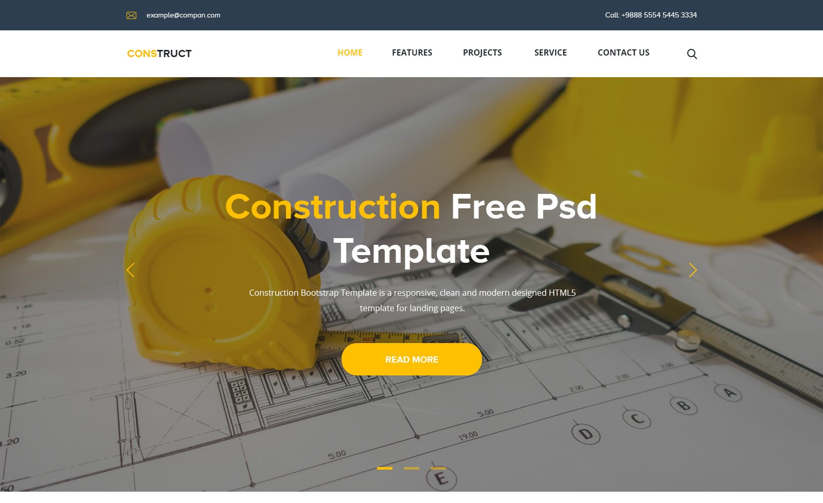 Landing Page Construction 2018 | Free PSD Templates