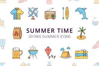 20+ Free Summer Icons Packs for Hot Design Projects