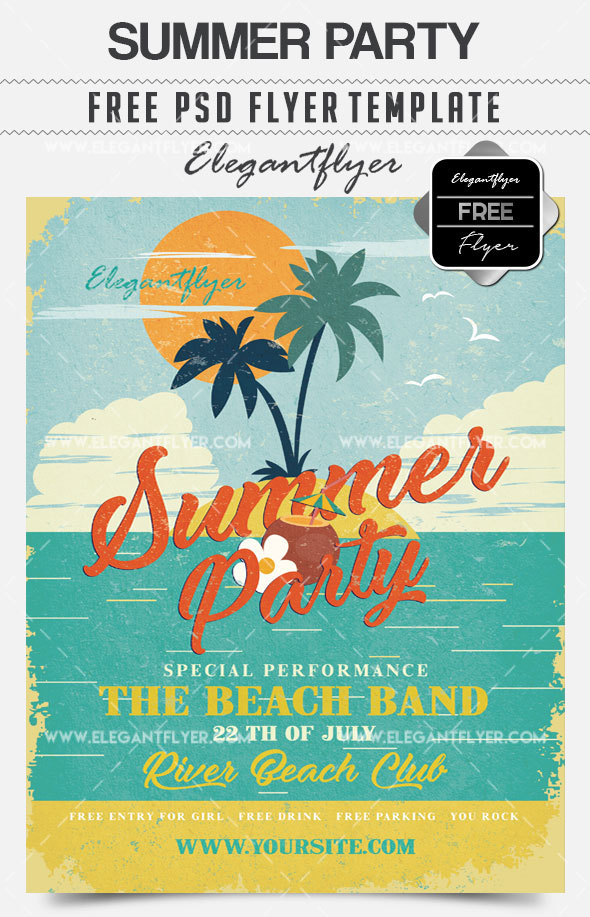 30 premium free psd summer party flyer templates for awesome