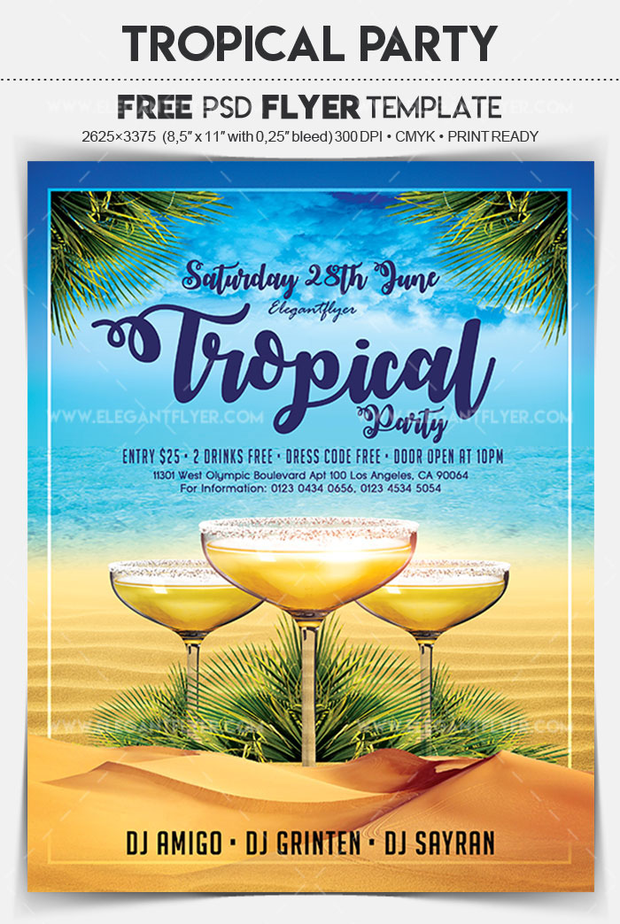30 Premium & Free PSD Summer Party Flyer Templates For Awesome