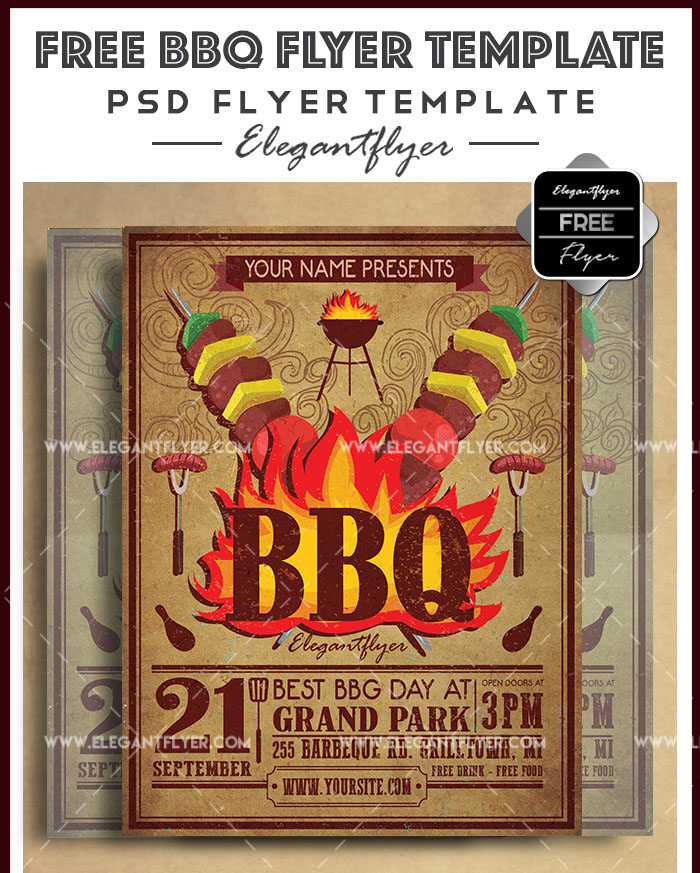 20 Professional Free Flyer Templates In Psd For Bbq Lovers Free