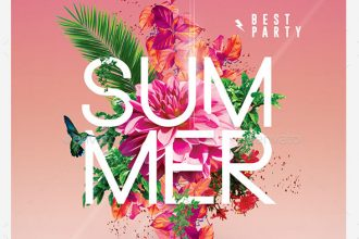 30 Premium & Free PSD Summer Party Flyer Templates for Awesome Events!