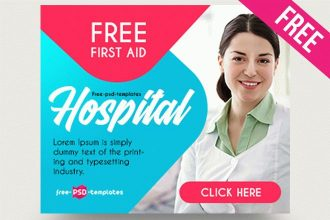 15 Free Hospital Banners Collection in PSD