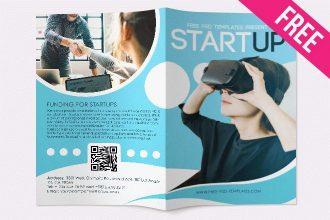 Free Startup Bi-Fold Brochure in PSD