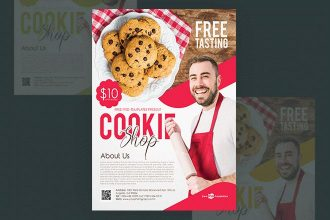 Free Cookie Shop Flyer in PSD