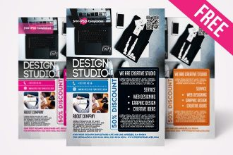 Free Design Studio Flyer in PSD