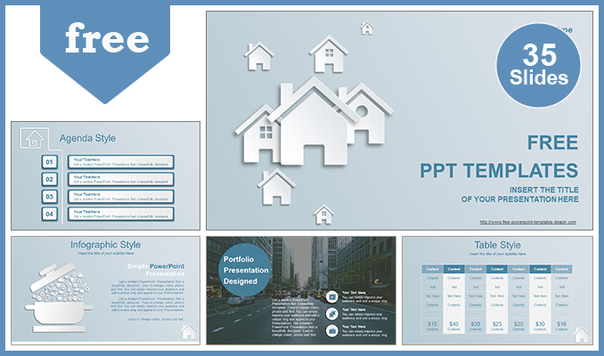 30 professional ppt presentations templates for business and real estate house ions powerpoint template 35 slides included download toneelgroepblik Image collections