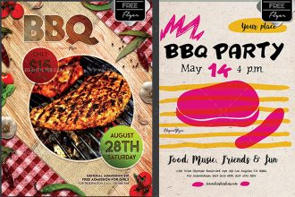 20 Professional Premium & Free Flyer Templates in PSD for BBQ Lovers!