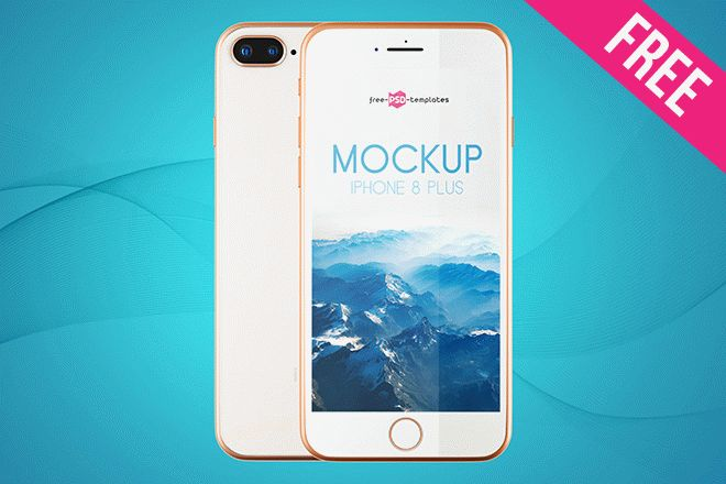 2 Free Iphone 8 Plus Mock Ups In Psd Free Psd Templates